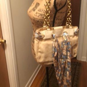 canvas and chain link bag